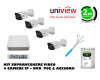 Kit 4 camere IP bullet de exterior 2Mp + NVR 4K, 4 canale 8MP + 4 porturi PoE UNIVIEW  + Accesorii