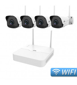 Kit Wireless 4 camere bullet 2MP + NVR 4 canale - Uniview