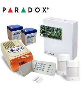 Sistem alarma Paradox Spectra SP4000 Kit 2P-EXT-F6 - 2 detectori 476+Pro + 1 contact magnetic + sirena de exterior HC F6A