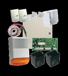 Sistem alarma la efractie DSC PC1616 cu sirena exterioara KIT1616EXT-BS1