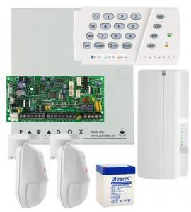 Sistem alarma Paradox Spectra SP4000 Kit S4-2NG - 2 detectori NV5 + comunicator GPRS Paradox PCS250G
