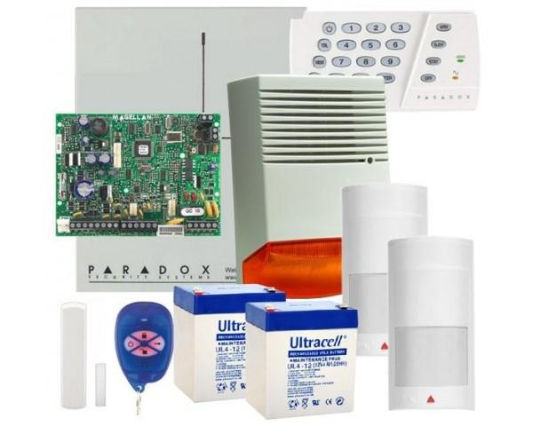 SIstem alarma Paradox Magellan MG5000 WIRELESS – 2 Detectori PMD2P + 1 contact magnetic DCTXP2 + sirena exterior HC F6A
